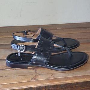 Coach black leather sandals size 6.5 B